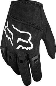 Fox DirtPaw Full Finger MTB Junior Cycling Gloves - Black