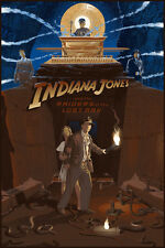 Cartel de película Indiana Jones regular de ALT por artista Mondo Laurent Durieux no./1100