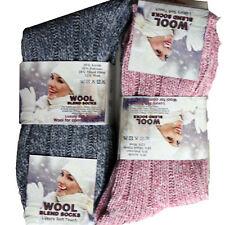 1,3,6 Pair Ladies Boot Wool Blend Socks Hiking Walking Long Warm Size UK 4-7