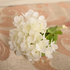 1pc White Silk Flowers Wedding Bridal Home Decor Artificial Hydrangea Bouquet