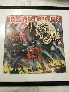 Iron Maiden - Number of the Beast 1st Press LP 1982 ST-12202 READ DESCRIPTION