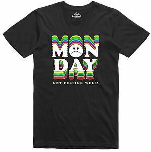 Funny Novelty T Shirt Slogan Monday Blues Design Regular Fit Cotton Tee