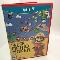 Nintendo Wii U Super Mario Maker Video Game Tested Works Great