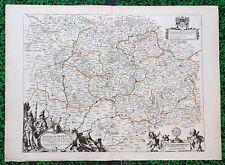 XVII ème - Diocèse du Mans Superbe Carte par N. Sanson 58 x 42 cm Editée en 1660