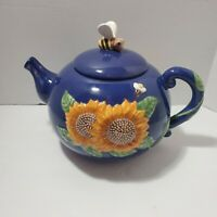 Treasure Craft Sunflower Teapot Cookie Jar See Pictures Good Pre-owned Condition