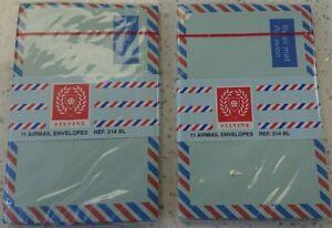 Airmail Envelopes - Silvine Ref 314BL - 145mm x 95mm - 2 x packs of 11 - Blue