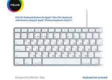 English Russian Keyboard Stickers | Mac | GLARE-FREE VINYL Stickers!