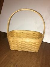 Oval Weave Woven Handle Basket Natural Rustic Primitive