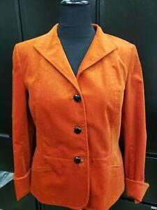 Talbots Rust Button Up Blazer Jacket w/ Brown Buttons Sz 14 NWT $129