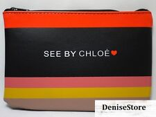 New See by Chloe Wallet Make up bag travel cosmetic vanity clutch Pouch Purse