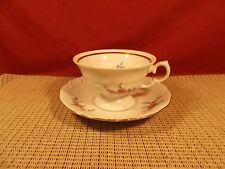 Wawel China Poland Rose Garden Pattern Cup & Saucer Set