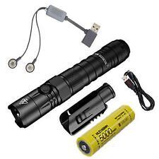 Combo: Nitecore NEW P12 Tactical LED Flashlight-1200 Lumens-NTH10 Holster w/A1 U