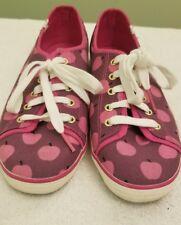 Keds Kate Spade Jump Apple Pink Canvas Tennis Shoes Size 9
