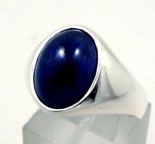 New Fashion Design  925 Sterling Silver Natural Blue Sapphire Cabochon Mans Ring