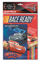 Disney Pixar Cars 3 Play Pack Colouring Pads Pencils Childrens Activity Set