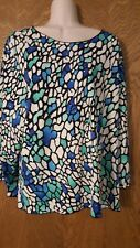 """Great Looking Sparkly Print Top by  """"All Hours"""" XXL"""