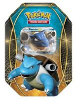 Blastoise EX Power Tin Holo Pokemon Card XY Collectible Tin | inc 4 Booster Pack