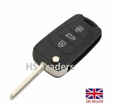 Folding Remote Key Shell Case Flip for HYUNDAI i20 i30 3 Buttons with logo A09