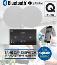 Systemline E50 In-Wall Bluetooth Amplifier with Q Install Ceiling Speakers
