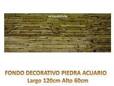FONDO DECORATIVO ACUARIO longitud 120cm altura 60cm PIEDRAS terrario pecera D440