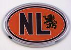 Holland HL Netherlands Flag Car Chrome Emblem Bumper Sticker flag decal oval