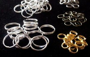 50pcs 4mm to 12mm Sizes Split Rings Gold Silver Key Ring Jump Jewelry findings