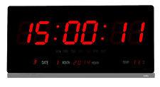LED Uhr Digitaluhr digital wanduhr Wohnzimmer Küchenuhr 2008 in Rot