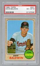 1968 Topps #231 Dave Baldwin PSA 6 EX-MT Washington Senators