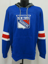 NEW YORK RANGERS LARGE ADIDAS SWEATSHIRT HOODY HOODIE NHL MENS HOCKEY STITCH