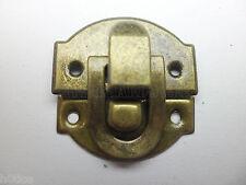 10Pcs antique brass color 28mmX30mm jewelry box latch hasp,gift box catch latch