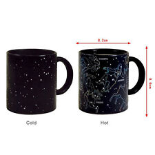 Fashion 10oz Heat Changing Night Star Constellation Mug Ceramic Coffee Cup 3896