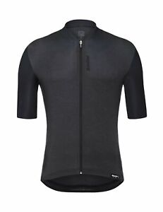 Santini Classe Short Sleeve Cycling Jersey in Black Made in Italy by Santini