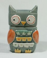 "Owl Biscuit or Cookie Jar Canister Hand Painted Ceramic 18cm / 7"" ***LAST ONE***"