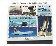 GIBRALTAR 2003 POWERED FLIGHT MINISHEET SG MS1051 UNMOUNTED MINT
