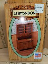New Listing1:12 Chrysnbon Kitchen Hoosier Cabinet Dollhouse Miniature Furniture Kit Nrfp