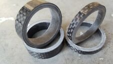 Cuffie in fibra di carbonio Distanziatori (Set di 4) STRADA MOUNTAIN BIKE 2x 5 mm 2x 10 MM (NUOVO)