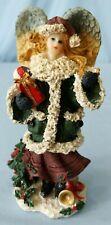 Resin Christmas Angel Figurine Christmas Holiday Figurine