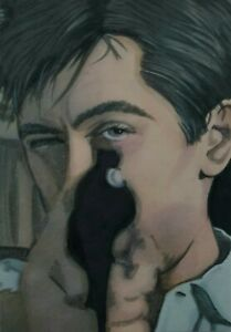 Original Aceo art sketch card Taxi Driver De Niro Scorsese Classic Thriller Ink