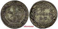 COLOMBIA Silver 1833 PN RU 1 Real Even Strike VF Condition SCARCE KM# 87.2