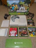 XBOX ONE S 1TB CONSOLE - MINECRAFT EDITION - plus Controller, Cables + Games