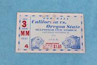 VINTAGE 1936 CALIFORNIA VS. OREGON STATE NCAA COLLEGE FOOTBALL TICKET STUB