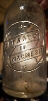 Nice Old Owens Citrate Of Magnesia Original Marked Stopper