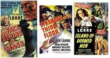 ISLAND OF DOOMED MEN,FACE BEHIND THE MASK,STRANGER ON THIRD FLOOR PETER LORRE