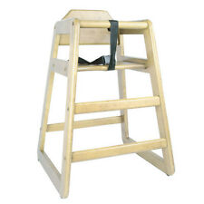 Wooden Restaurant Style Wooden High Chair For Infant. (With Seat Belt)