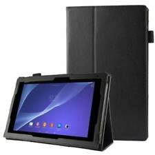 Texture Leather Case with Holder for Sony Xperia Tablet Z2 10.1 (Black)