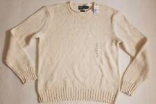 Polo Ralph Lauren Heavy Knit Sweater White Silk Linen Size XL $165