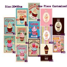 Cupcakes Retro Metal Tin Signs Vintage Plate Bakery Shop Art Wall Decor Poster