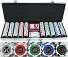 Ultimate Texas Hold 'Em 13.5g 500 pc Clay Poker Chips w/ Case Cards Dice