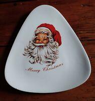 Vintage SANTA MERRY CHRISTMAS PLATE 1960'S