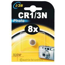 8x CR1/3N Lithium Foto-Batterie DURACELL DL1/3N Photo 3V 2L76